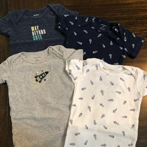 Carters Short Sleeve Onesies - 4 pack 9mos.